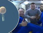 شاهد لحظة هبوط مركبة رائد الفضاء الإماراتى هزاع المنصورى