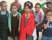 قارئ يشارك بصور لاحتفالات بناته بانتصارات أكتوبر بمدرسة فى شبرا