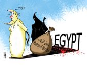 كاريكاتير الصحف الإماراتية.. الإسلام السياسى يمول الإرهاب ضد مصر