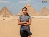 الفراعنة يرفعون شعار مصر بلد الاسكواش أمام الأهرامات قبل انطلاق بطولتى CIB