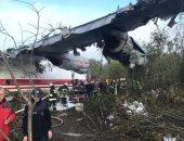 صور.. مصرع 4 أشخاص وإصابة 2 جراء هبوط اضطرارى لطائرة شحن فى أوكرانيا