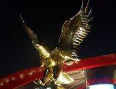 النحات عصام درويش ينشر صور تمثاله نسر الأهلى قبل إزاحه الستار عنه بمدينة نصر
