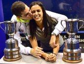 على فرج: بطولة أمريكا للاسكواش رقم 19 فى مسيرتي ونور تقدم أفضل مواسمها