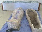 صور.. الداخلية تضبط 4 تجار آثار بحوزتهم 193 قطعة واكتشاف مقبرة بالجيزة