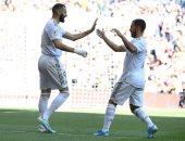 ريال مدريد يتقدم على غرناطة 2/0 بالشوط الأول ويخسر كروس للإصابة.. فيديو