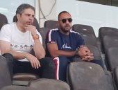 معتمد جمال ومحمد شوقي يتابعان لقاء الإسماعيلي ودجلة ببتروسبورت
