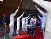صور .. ممر شرفى من نجوم منتخب السلاح للرموز والرواد في افتتاح بطولة العالم