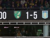 استون فيلا يحقق أكبر انتصار فى تاريخه ضد نورويتش سيتي.. فيديو