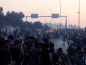 صور.. تجدد المظاهرات فى العراق والمحتجون يشتبكون مع الشرطة