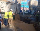 انتهاء إصلاح خط المياه بشارع جامعة الدول العربية وإعادة الخدمة لـ 8 مناطق