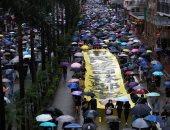 عشرات الآلاف يتظاهرون فى تحد لحظر الأقنعة فى هونج كونج