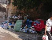شكوى من انتشار القمامة بمنطقة كامب شيزار بالإسكندرية