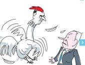 كاريكاتير ساخر: نتنياهو يخشى من جدعون ساعر حتى فى احتفالات الغفران