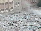 سكان حى شلبى بالمنيا يشكون انتشار القمامة فى الطريق المؤدى للجامعة