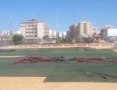 صور.. تدهور الملاعب المفتوحة بحى المناخ ببورسعيد.. ووكيل الرياضة: جار تطويرها