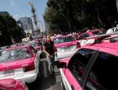 اضراب سائقى التاكسى فى المكسيك احتجاجا على تطبيقات النقل الذكى
