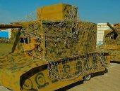 مدرسة بالشرقية تنفذ نموذجا لحرب أكتوبر بالدبابات واللبس العسكرى