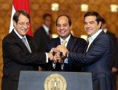 الرئيس القبرصى ورئيس وزراء اليونان يغادران القاهرة عقب القمة الثلاثية