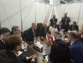 لقاء ثلاثي يجمع السويدى والتراس ورئيس اتحاد الصناعات الروسى