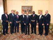 السيسى يستقبل أعضاء بمجلسي الشيوخ والنواب من ولاية جنوب كارولينا الأمريكية