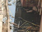 شكوى من انتشار الصرف الصحى بقرية شلقام بالمنيا
