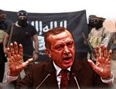 شاهد.. موظفو سفارة تركيا بأوكرانيا يعتدون على محتجين ضد العدوان على سوريا