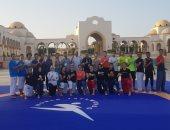 الفولى وجابر يؤازران المنتخب المصرى للتايكوندو فى بطولة العالم الشاطئية