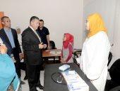 صور.. محافظ بنى سويف يتفقد مستوى الخدمة الصحية بالمستشفى النموذجى