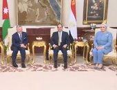 شاهد.. الرئيس السيسى وقرينته يستقبلان العاهل الأردنى والملكة رانيا