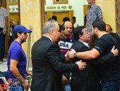 سمير غانم وهشام ماجد ورياض الخولى يقدمون العزاء فى طلعت زكريا