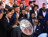 الأهلي يتسلم درع الدورى رقم 41 فى تاريخه خلال احتفالية كبري