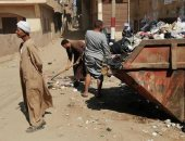 صور.. حملات نظافة مكبرة ورفع 418 طن قمامة ومخلفات صلبة بمراكز سوهاج