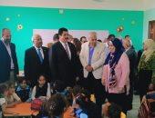 صور.. محافظ القليوبية يفتتح مدرستين بطوخ بتكلفة 24 مليون جنيه