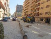 """صور.. تركيب بدالة """"أبوتلات"""" لتصريف المياه الجوفية بالعجمى غرب الإسكندرية"""