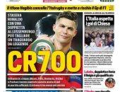 الصحافة الإيطالية تحتفل بـCR700 قبل مباراة البرتغال ضد لوكسمبورج.. صور