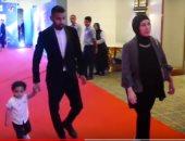 كاميرا سوبر كورة ترصد مؤمن زكريا بصحبه نجله وزوجته في احتفاليه الأهلي