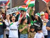 تظاهرات ضد العدوان التركى على سوريا فى ولاية تينيسى الأمريكية