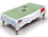 كاريكاتير صحيفة إماراتية.. سوريا تتحول لكرة قدم تلعبها أقدام تركيا وأمريكا