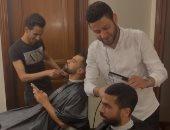 """شاهد.. أحمد فتحى وعبد الله السعيد يستعدان بـ""""نيو لوك"""" لمواجهة بتسوانا"""