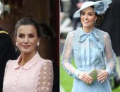 ملكة إسبانيا وكيت ميدلتون بفستانين متشابهين.. مين أجمل؟