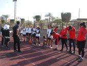 منتخب الكرة النسائية ينقل تدريباته لاستاد بتروسبورت استعدادًا للمغرب