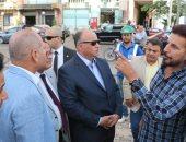 محافظ القاهرة يوجه بسرعة الانتهاء من أعمال تطوير شارع الحجاز بمصر الجديدة