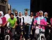 إنطلاق سباق الدراجات الهوائية للبنات للتأهيل لبطولة الجمهورية ببورسعيد