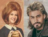 تامر حسنى بقصة الأسد ودنيا سمير غانم بباروكة.. تخيل نجوم دلوقتى بموضة زمان