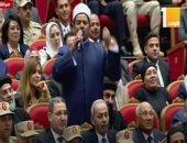 أحد الدعاة يلقى قصيدة فى حب الجيش المصرى بالندوة التثقيفية الـ 31