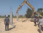إزالة تعديات على أرض زراعية ببرج العرب غرب الإسكندرية