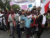 صور.. احتفالية فى أثيوبيا بفوز رئيس وزراء البلاد بجائزة نوبل للسلام
