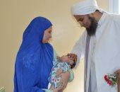صور.. الحبيب على الجعفرى يزور الأطفال المرضى فى جامعة المنصورة