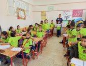 صور.. حملة للتوعية بترشيد استهلاك المياه بمدرستين بالأقصر