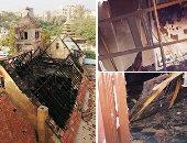 كاهن كنيسة حلوان: المقاعد الخشبية ساعدت على اشتعال الحريق وأجساد القديسين سليمة